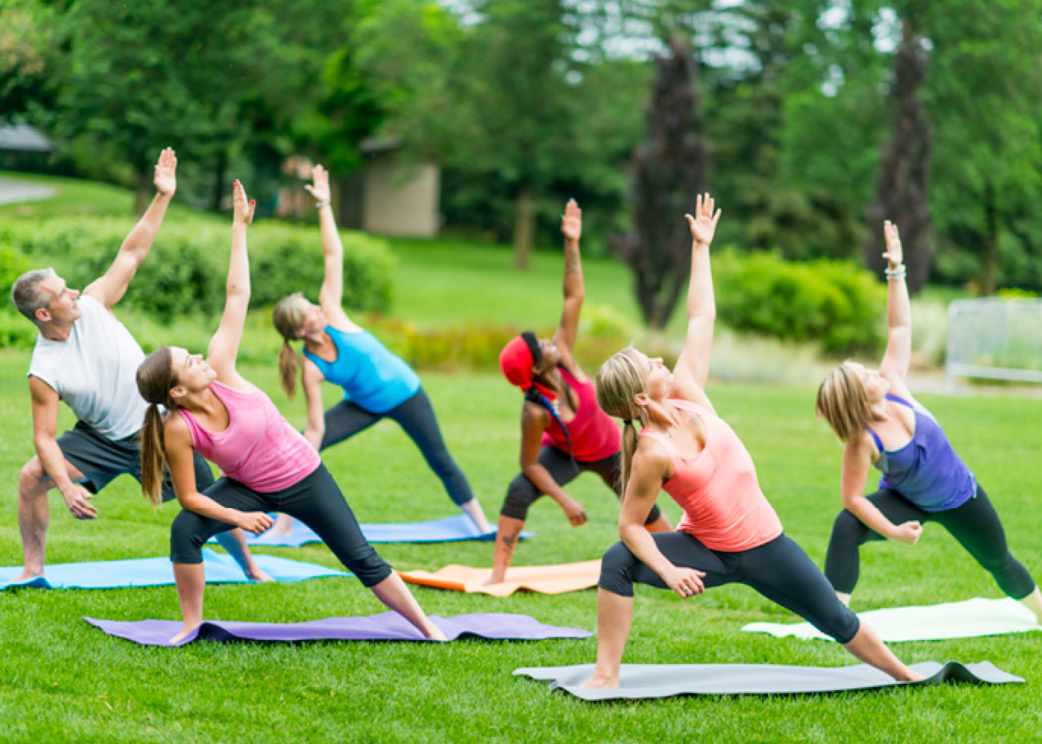 Outdoor yoga class Uniland Development Eastern Hills