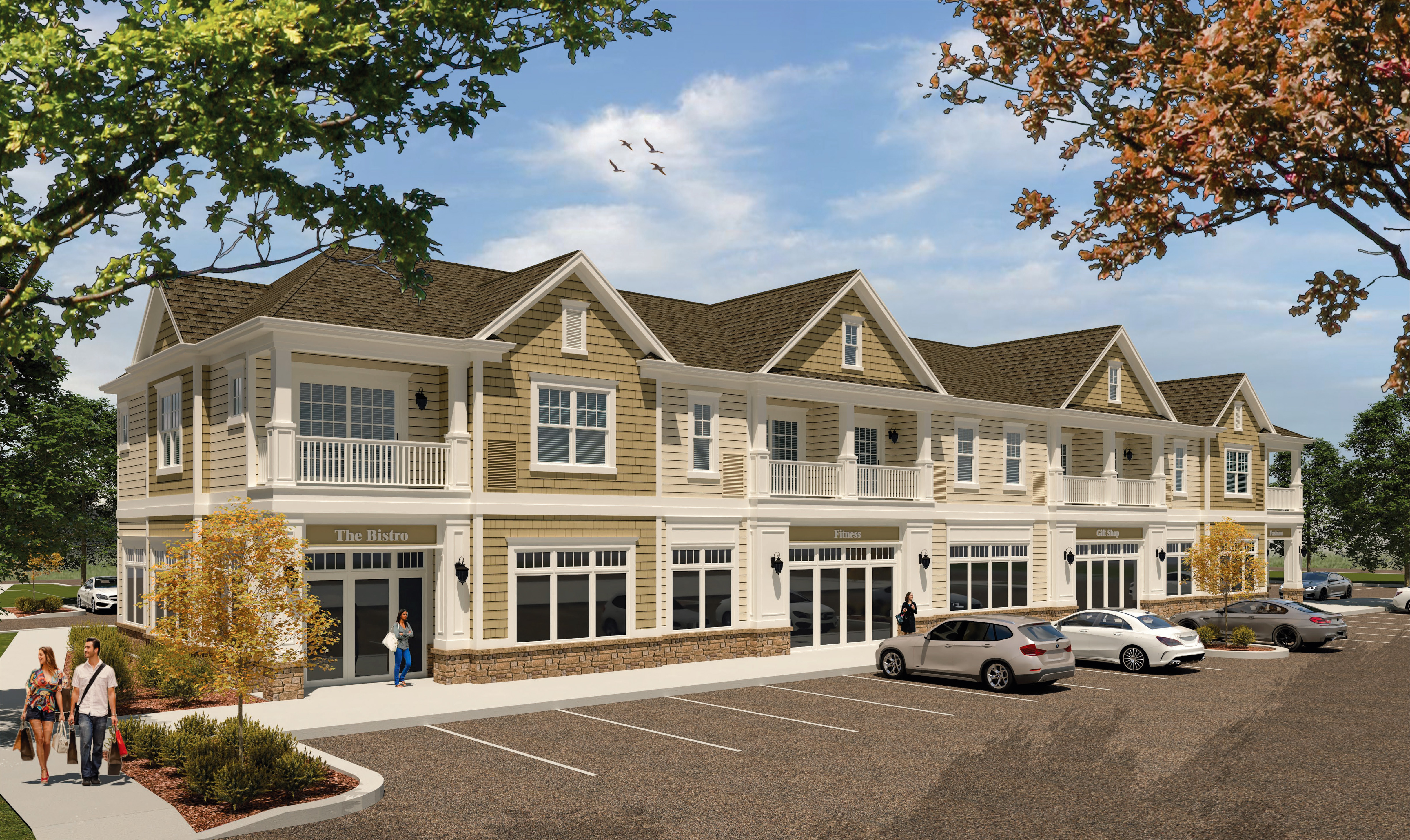 The Glen at Perinton Hills Rendering of Mixed-use Complex