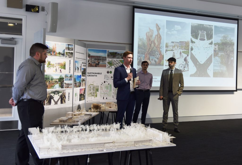 UB Students presenting on Eastern Hills Mall redevelopment