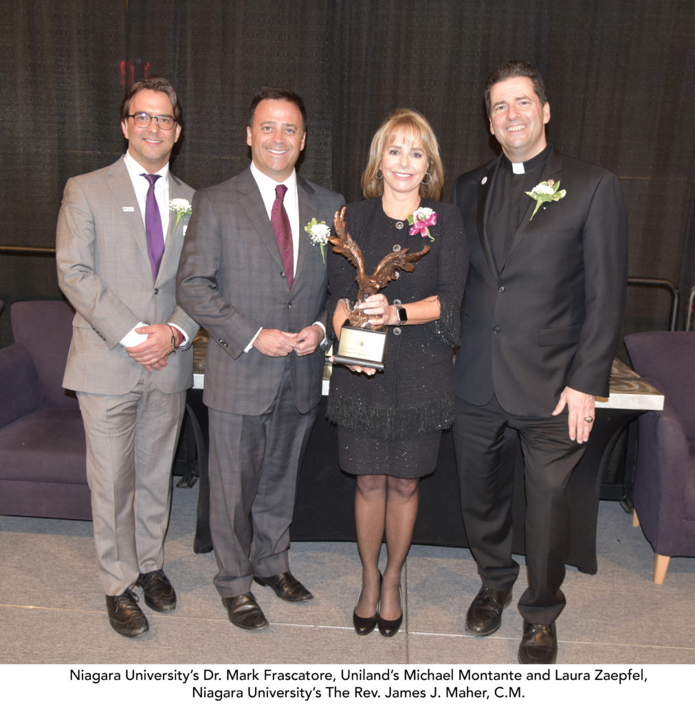 Uniland executives with Niagara University's President and Dean