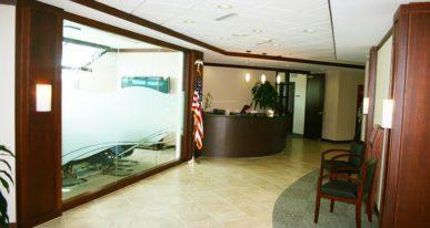 Office lobby Buffalo, NY