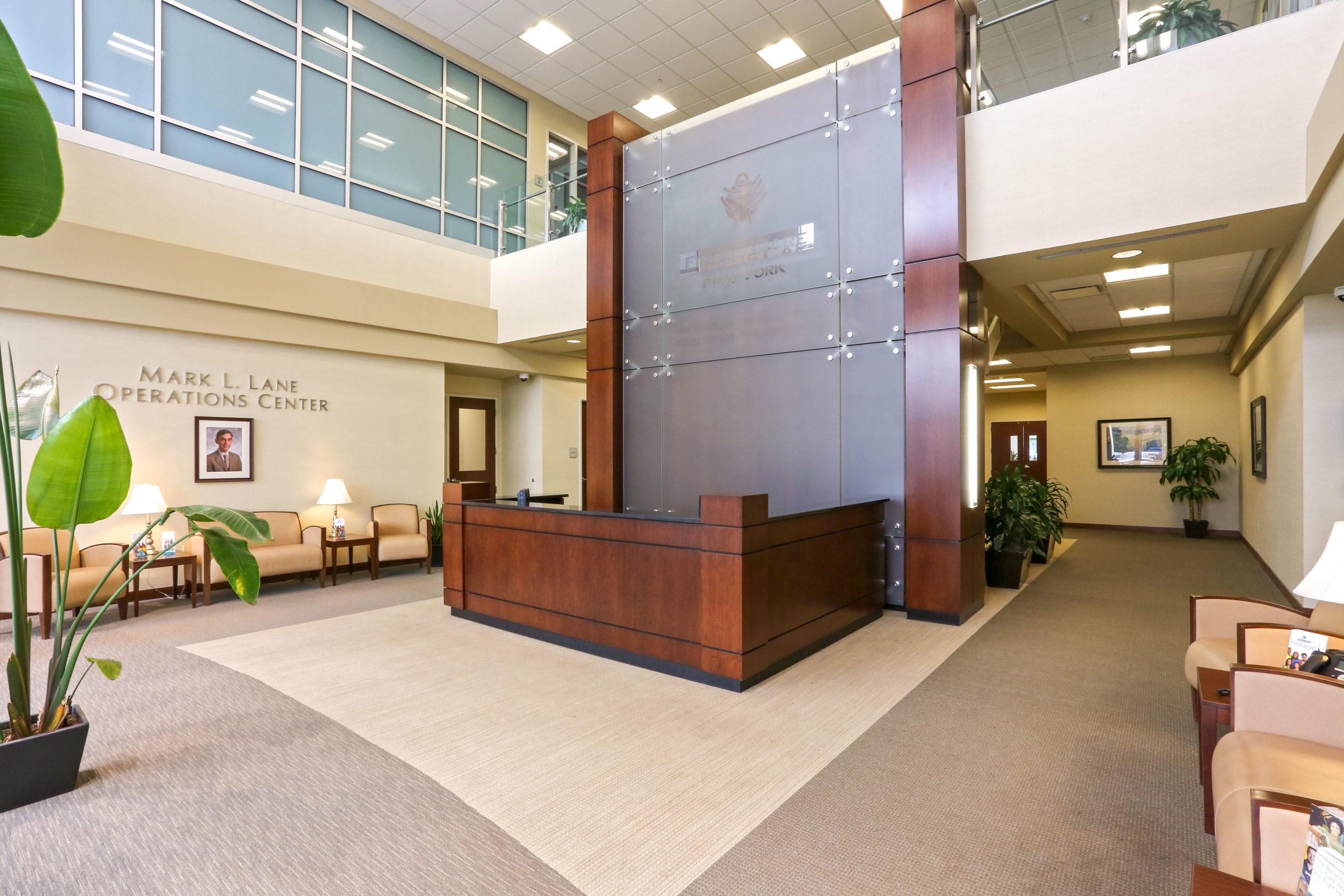 Fidelis Care Office Reception desk
