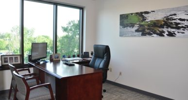 enclosed office space