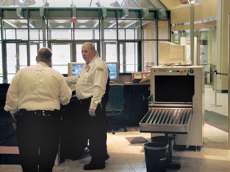 office lobby security