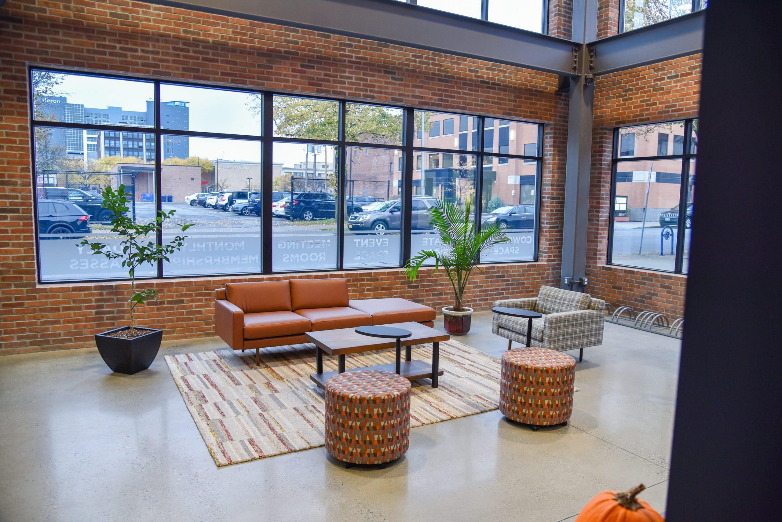 Buffalo office space lobby