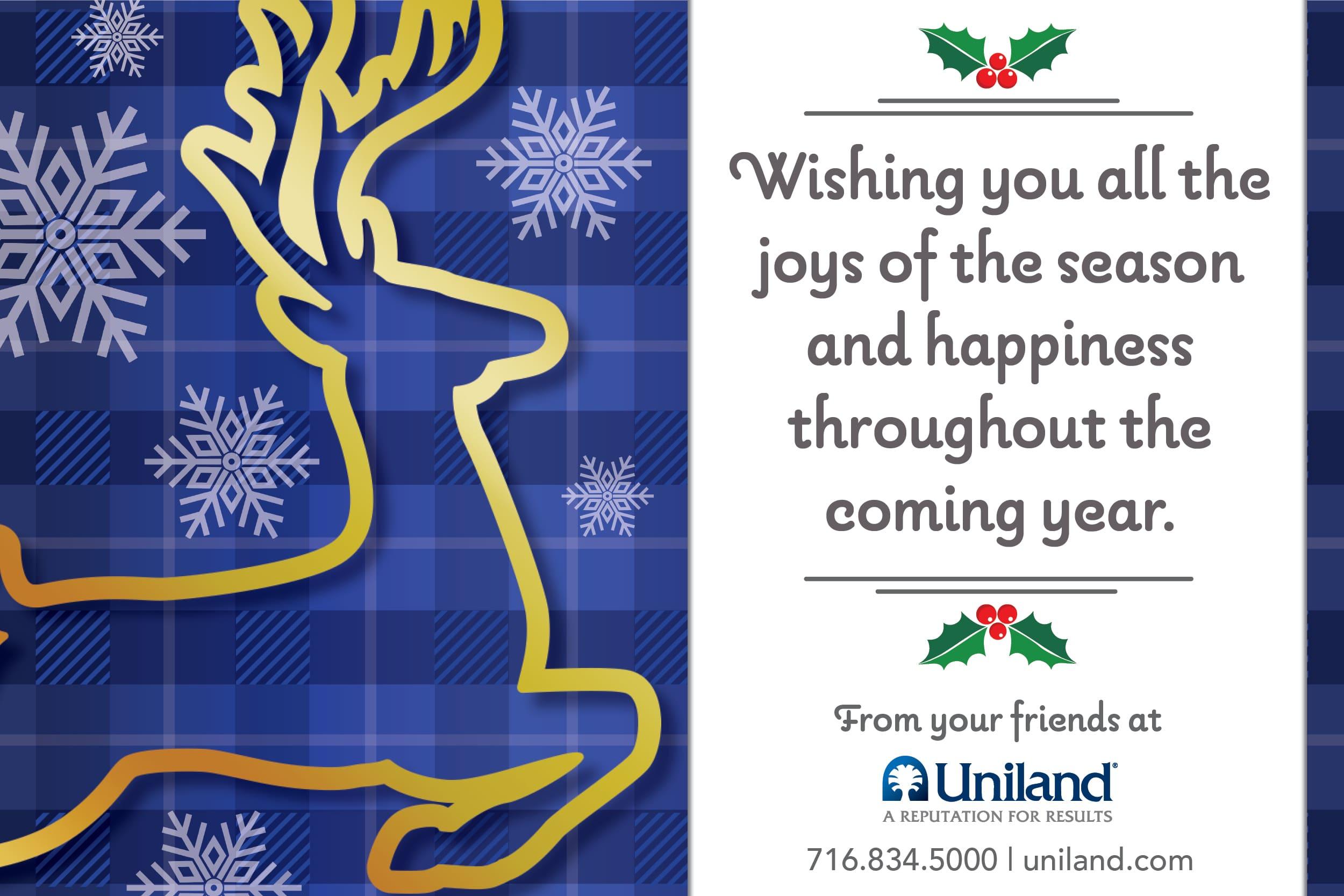 Happy Holidays from Uniland