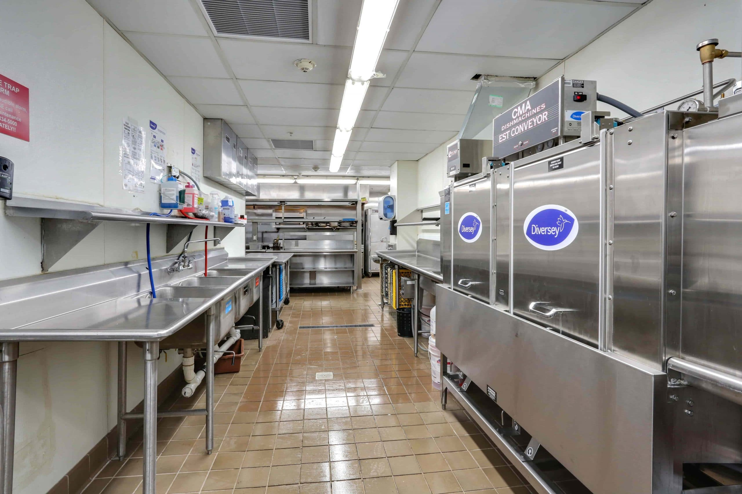Dishwashing Stations at 200 Delaware Avenue Restaurant